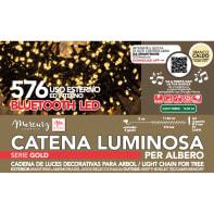 Catena luminosa 576 lampadine bianco caldo Led 14.5 m