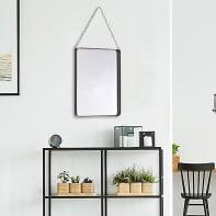 Specchio a parete rettangolare Kariba nero