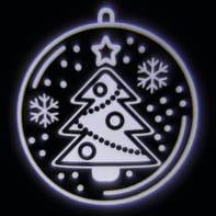 Proiettore LED bianco Sfera con albero Natale 2 m