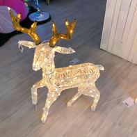 Renna 160 lampadine bianco caldo H 85 cm