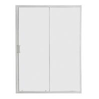 Porta doccia scorrevole Sinque 120 cm, H 190 cm in vetro temprato, spessore 5 mm trasparente bianco