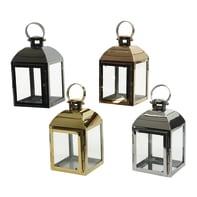 Lanterna in ferro assortiti H 18 cm,Ø 11 cm