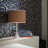 Mosaico H 30 x L 30 cm nero/rame
