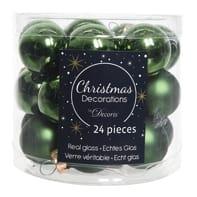 Sfera natalizia in vetro Ø 2.5 cm confezione da 24 pezzi