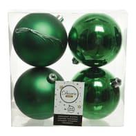 Sfera natalizia in plastica Ø 10 cm confezione da 4 pezzi