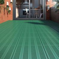 Piastrelle ad incastro ONEK Forata in pvc 40 x 40 cm Sp 33 mm,  verde