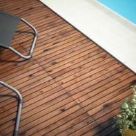 Piastrelle ad incastro ONEK in legno acacia 60 x 30 cm Sp 25 mm,  marrone chiaro