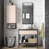 Mobile bagno Studio rovere L 80 cm