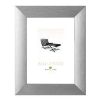 Cornice Alu-Design argento per foto da 50x70 cm