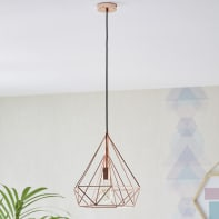 Lampadario Design Byron rame in metallo, D. 37 cm, INSPIRE