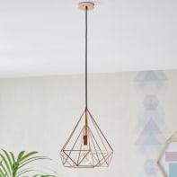 Lampadario Design Byron rame in metallo, D. 84 cm, L. 110 cm, INSPIRE