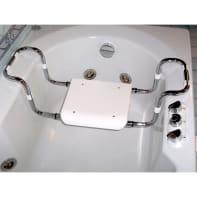 Sedile per vasca in acciaio bianco