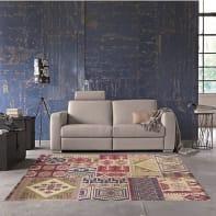 Tappeto Modern kilim , multicolor, 133x190 cm