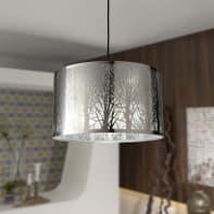Lampadario Moderno Forest cromo in metallo, D. 40 cm, 3 luci, INSPIRE