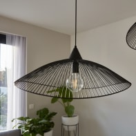 Lampadario Design Kasteli nero in metallo, D. 65 cm, SEYNAVE
