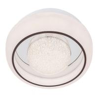 Plafoniera barocco Silvie LED integrato bianco, in acrilico,