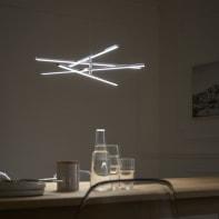 Lampadario Moderno Concord LED integrato cromo, in metallo, D. 60.0 cm, L. 60.0 cm, 4 luci, INSPIRE
