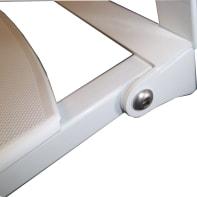 Sedile per doccia in acciaio bianco