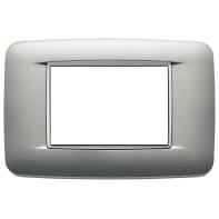Placca VIMAR Eikon 3 moduli argento matt
