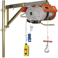 Paranco elettrico Monotiro portata max 200 kg cavo da 40 m
