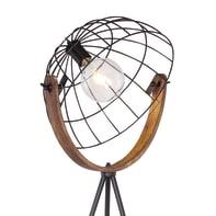 Lampada da terra nero, in metallo, H160cm, GLOBO