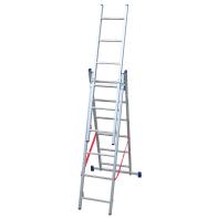 Scala a sfilo in alluminio 6+6+6 gradini per lavori fino a 4.88 m