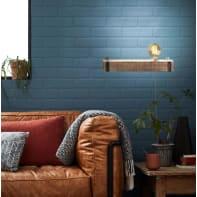 Applique industriale Woodhill legno/nero, in metallo, 40x13 cm, BRILLIANT