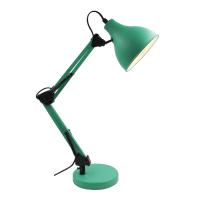 Lampada da scrivania Ennis verde, in metallo, E27 IP20 INSPIRE
