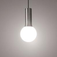 Lampadario Design Hoki nickel in nichel, D. 12 cm, L. 5 cm, INSPIRE