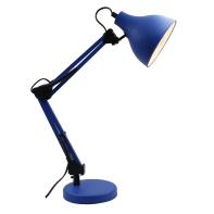 Lampada da scrivania Ennis blu, in metallo, E27 IP20 INSPIRE
