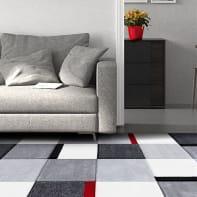 Tappeto Opera square Block , grigio, 160x230 cm