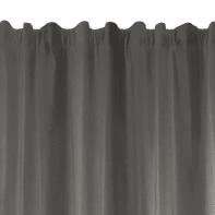 Tenda Protect antracite fettuccia con passanti nascosti 135 x 280 cm