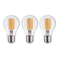Set di 3  lampadine LED filamento, E27, Goccia, Trasparente, Luce calda, 12W=1521LM (equiv 100 W), 360° , LEXMAN