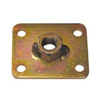 Piastra dritta standers in acciaio zincato L 60 x Sp 3 x H 50 mm