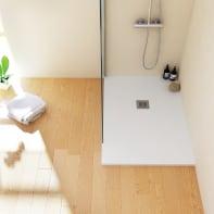 Piatto doccia resina Logic 80 x 110 cm bianco