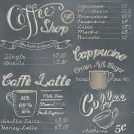 Carta da parati Coffee shop graffite, 53 cm x 10 m