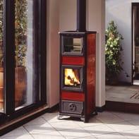 Stufa a legna con forno Gloria 7.2 kW bordeaux