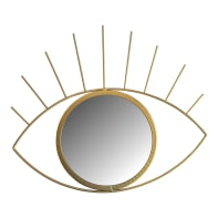 Specchio a parete ovale Oeil dorato 36x31 cm