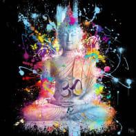 Quadro dipinto a mano Buddha 100x100 cm
