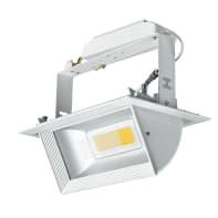 Faretto orientabile da incasso quadrato Orient in alluminio, bianco, LED integrato 30W 1600LM IP20