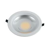 Faretto fisso da incasso quadrato Fisso in alluminio, bianco, LED integrato 20W 1600LM IP20