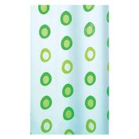 Tenda doccia O-Ring in peva verde L 240 x H 200 cm