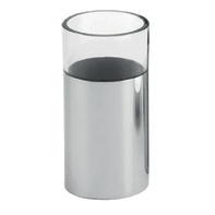 Bicchiere porta spazzolini Jumpy in acciaio inossidabile cromo