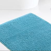 Set di tappetini rettangolare in cotone turchese 90 x 60 cm