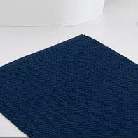 Set di tappetini rettangolare in cotone blu 90 x 60 cm