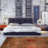 Tappeto Modern kilim , dorato, 133x190