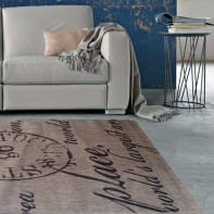 Tappeto Cottage poesia , beige, 160x230 cm