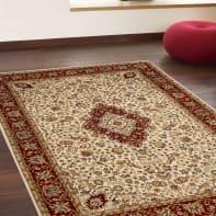 Tappeto persiano Bechir 005616 , crema, 199x285 cm
