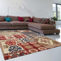 Tappeto Modern kilim , multicolor, 200x285 cm