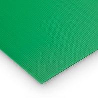 Lastra polionda polipropilene alveolare verde 50 cm x 100 cm, Sp 2 mm
